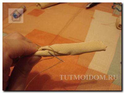 сшиваем потайным швом